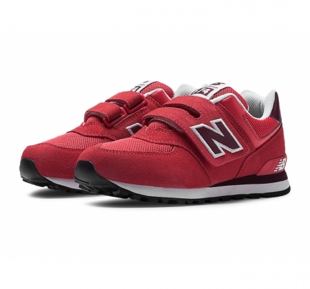 New Balance KV574 Velcro Red