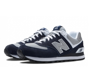 M574 Blue Suede with Grey/Silver Pop