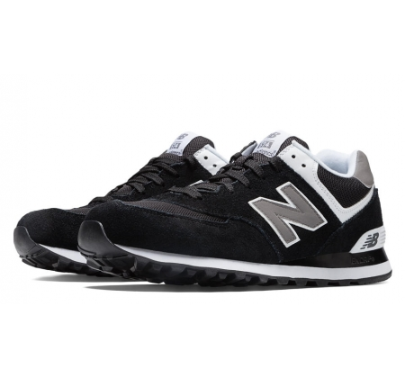 New Balance M574 Black Suede