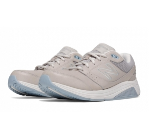 New Balance women's grey with blue 928 lace-up walking shoe