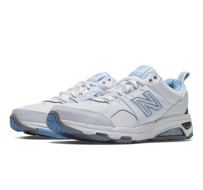 NEw Balance Women's 855 White/Blue Supportive Walking Shoes Size 8.5