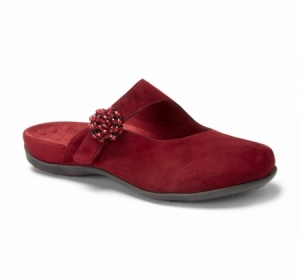 Vionic Joan Slip on Mule Merlot