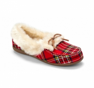 Vionic Juniper Slipper Red Plaid