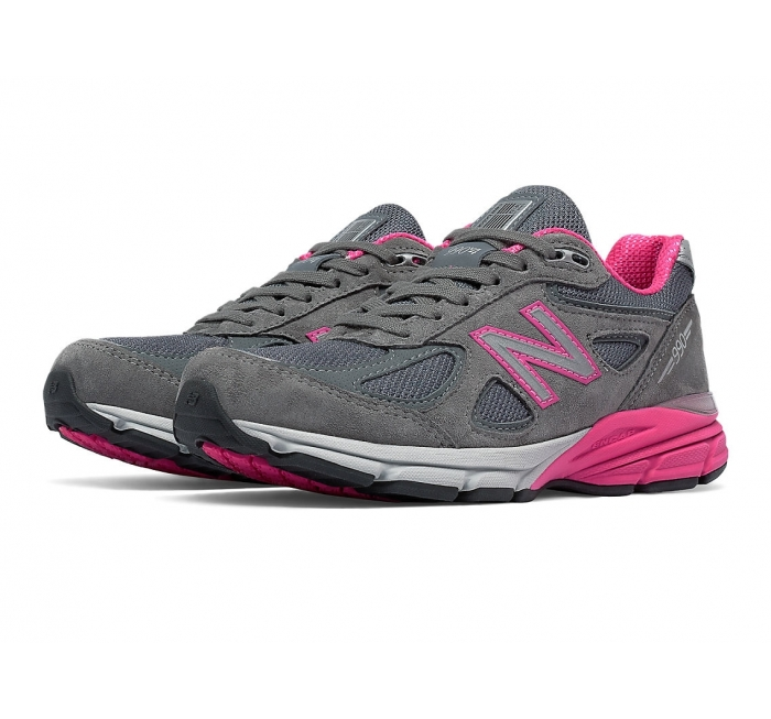 New Balance Women's 990v4 Grey w/Pink: W990GP4 - A Perfect ...