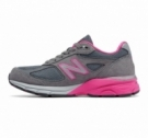 New Balance W990v4 Grey with Pink