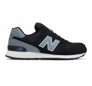 New Balance 574  Reflective Black