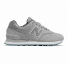 New Balance 574 Luxe Reptile Silver Mink