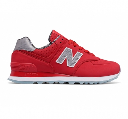 New Balance 574 Luxe Rep Red