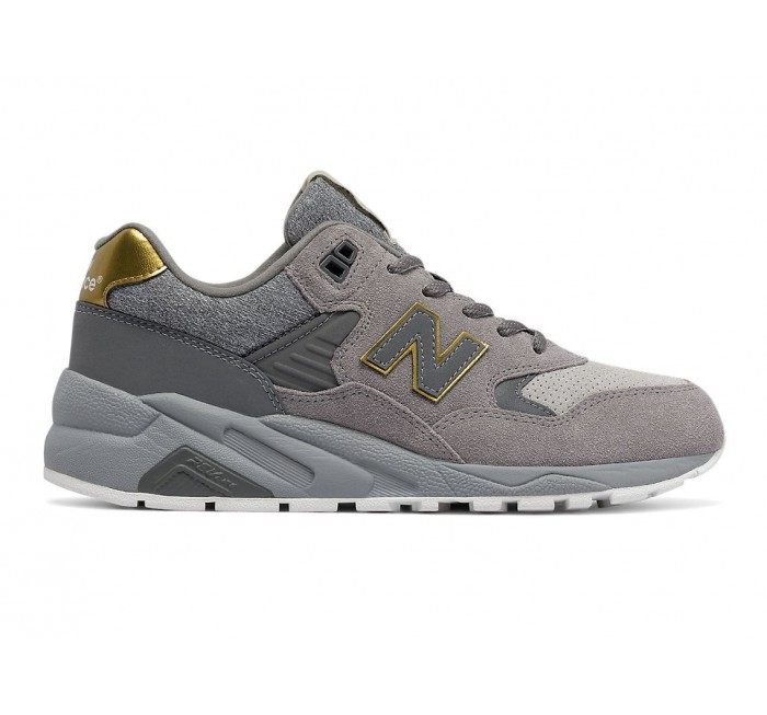 New Balance Women's 580 Molten Metal Shoes Grey with Gold 12 B