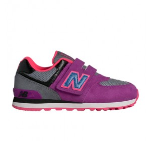 New Balance KV574 Outside In Pink/Black