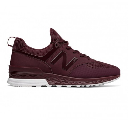 New Balance MS574 Sport Suede Maroon