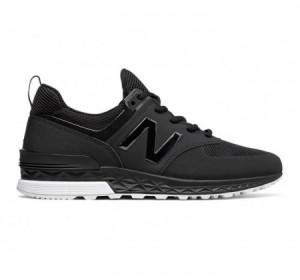 New Balance MS574 Sport Suede Black