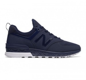 New Balance MS574 Sport Suede Navy