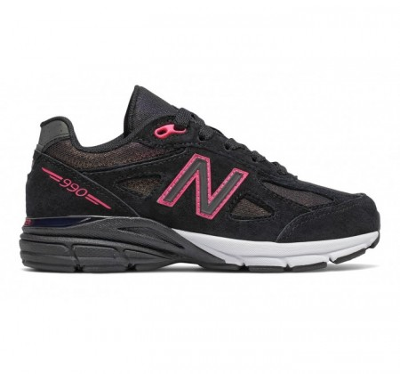 New Balance Grade-school KJ990v4 Black/Pink