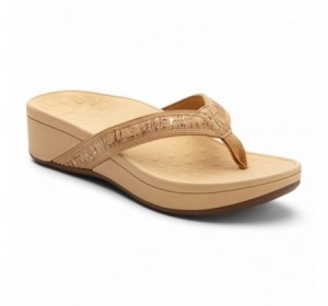 Vionic High Tide Platform Gold Cork