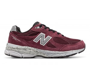 new balance men's 990v3 burgundy