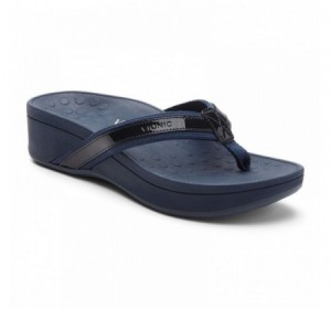 Vionic High Tide Platform Sandal Navy
