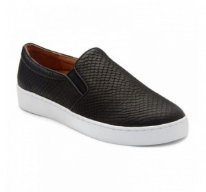 Vionic Midi Snake Slip On Black