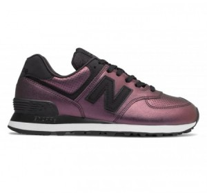 New Balance WL574 Sheen Black Pop