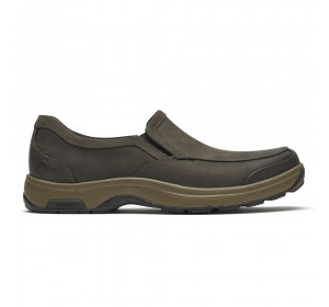 Dunham Battery Park Slip-On Brown Nubuck