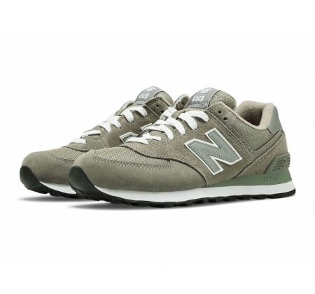 buy popular 4fec2 cf0f4 New Balance W574 Grey Suede