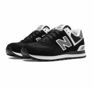 New Balance W574 Black Suede