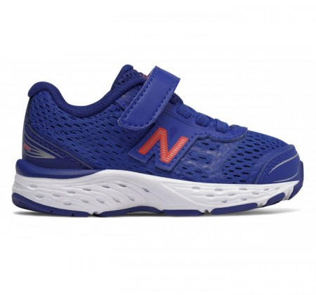 New Balance Infant 680v5 Hook and Loop Pacific