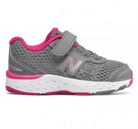 New Balance Infant 680v5 Hook and Loop Pink Glo
