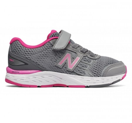 New Balance Kids 680v5 Hook and Loop Pink Glo