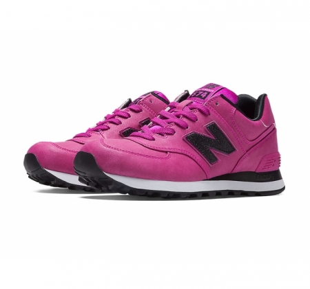 Women's New Balance Women's 574 Precious Metals Pink / Black Shoes