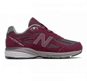 New Balance Grade-school 990v4 Burgundy