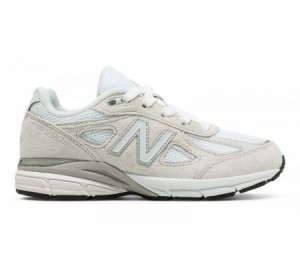 New Balance Grade-school 990v4 White