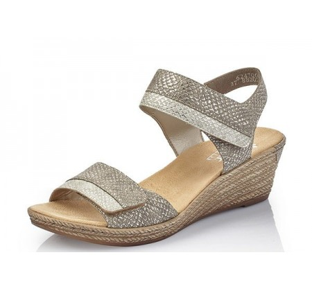 Rieker Fanni Metallic Wedge