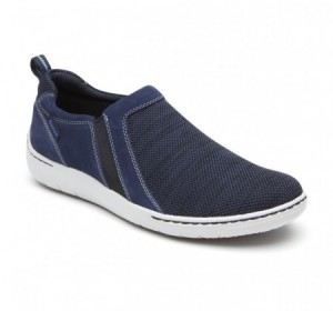Dunham D Fitsmart Double Gore Slip-on Navy