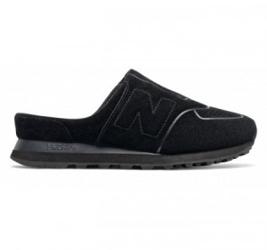New Balance Women's 574 Slide Black