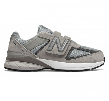 New Balance Little Kids 990v5 Hook & Loop Grey