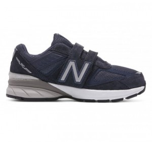 New Balance Little Kids 990v5 Hook & Loop Navy