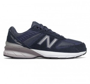 New Balance Big Kids 990v5 Navy